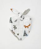 Little Unicorn Cotton Muslin Reversible Bandana Bib - Forest Friends