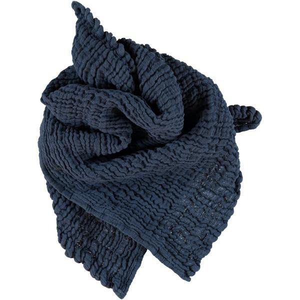 fawn&forest Wayda Irony Blue Small Scarf - fawn&forest