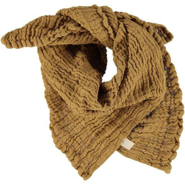 fawn&forest Wayda Mustard Gold Small Scarf - fawn&forest