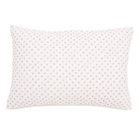 Auggie Cross Stitch Pillow Cover - Lilac