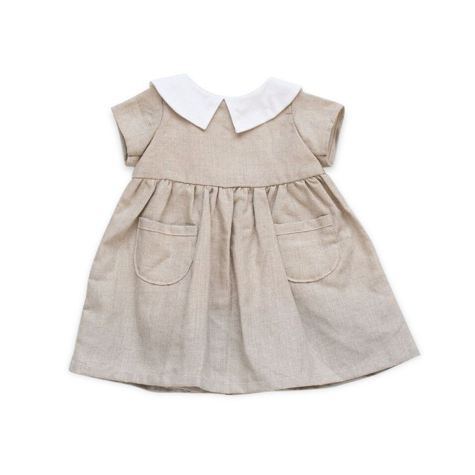 fawn&forest Tortoise & the Hare Alice Dress - Natural Linen - fawn&forest