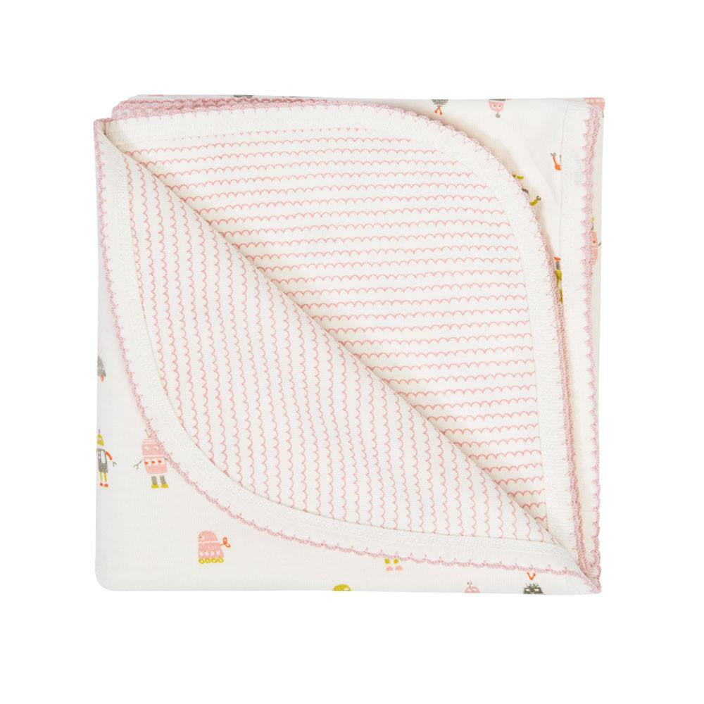 Auggie Robot March Baby Blanket - Pink