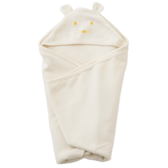 fawn&forest Fog Linen Hooded Swaddle Towel - fawn&forest