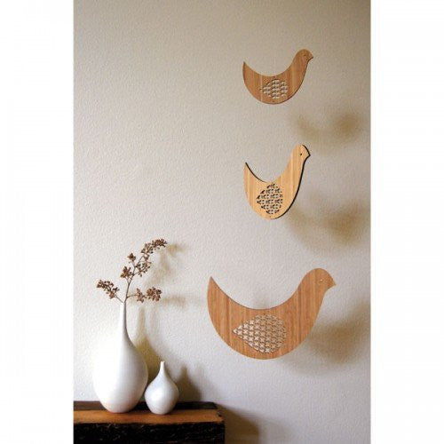 Petit Collage Bird Trio Mobile - fawn&forest