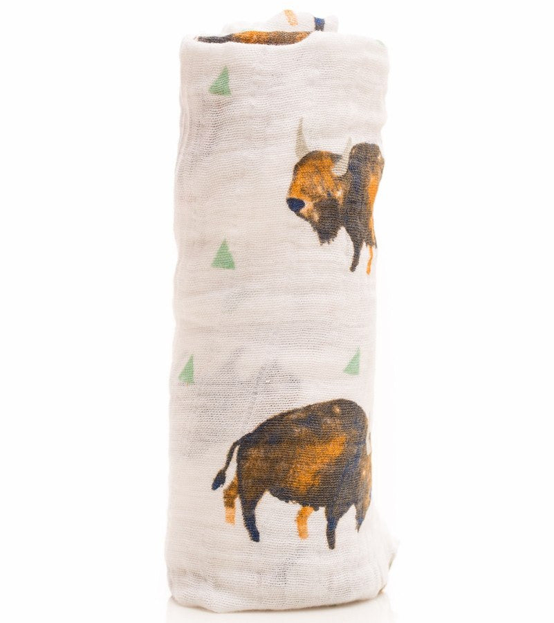 Little Unicorn Little Unicorn Bison Swaddle Blanket - fawn&forest