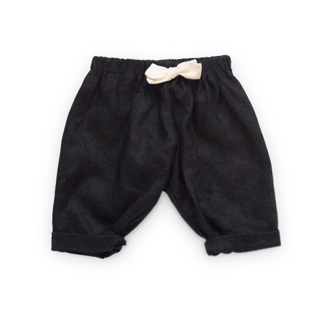 Tortoise & the Hare Linen Pants - Black