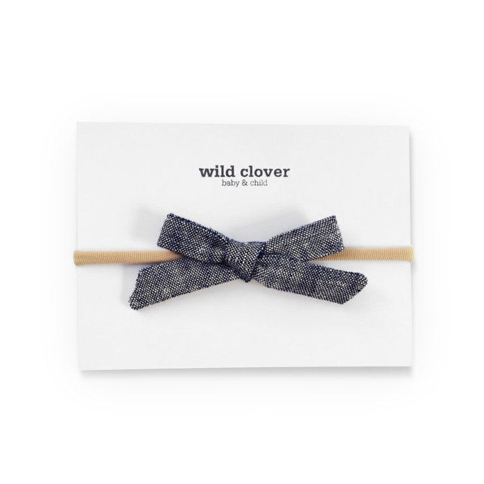 fawn&forest Schoolgirl Bow Headband - Chambray - fawn&forest