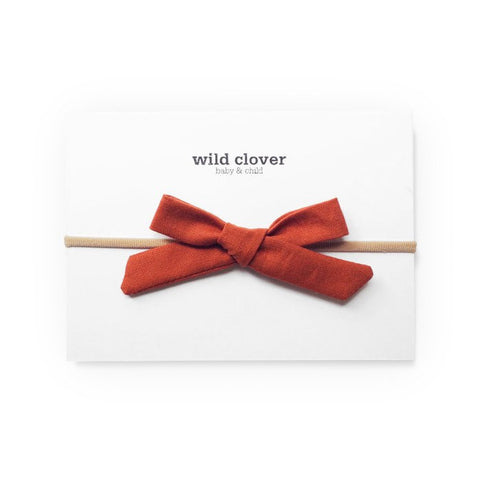 fawn&forest Schoolgirl Bow Headband - Spice - fawn&forest