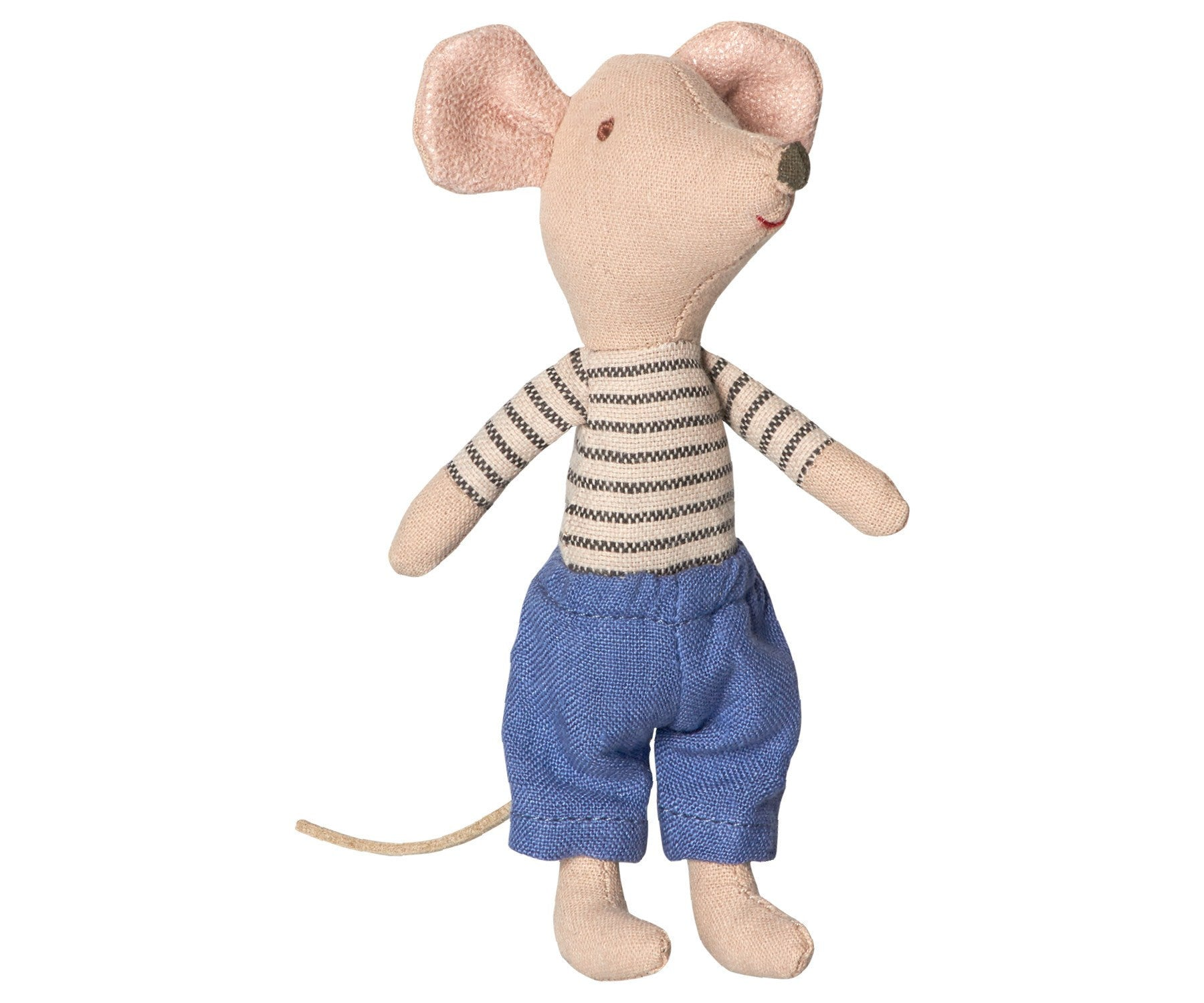 Maileg Big Brother Mouse in Box - Blue Stripe