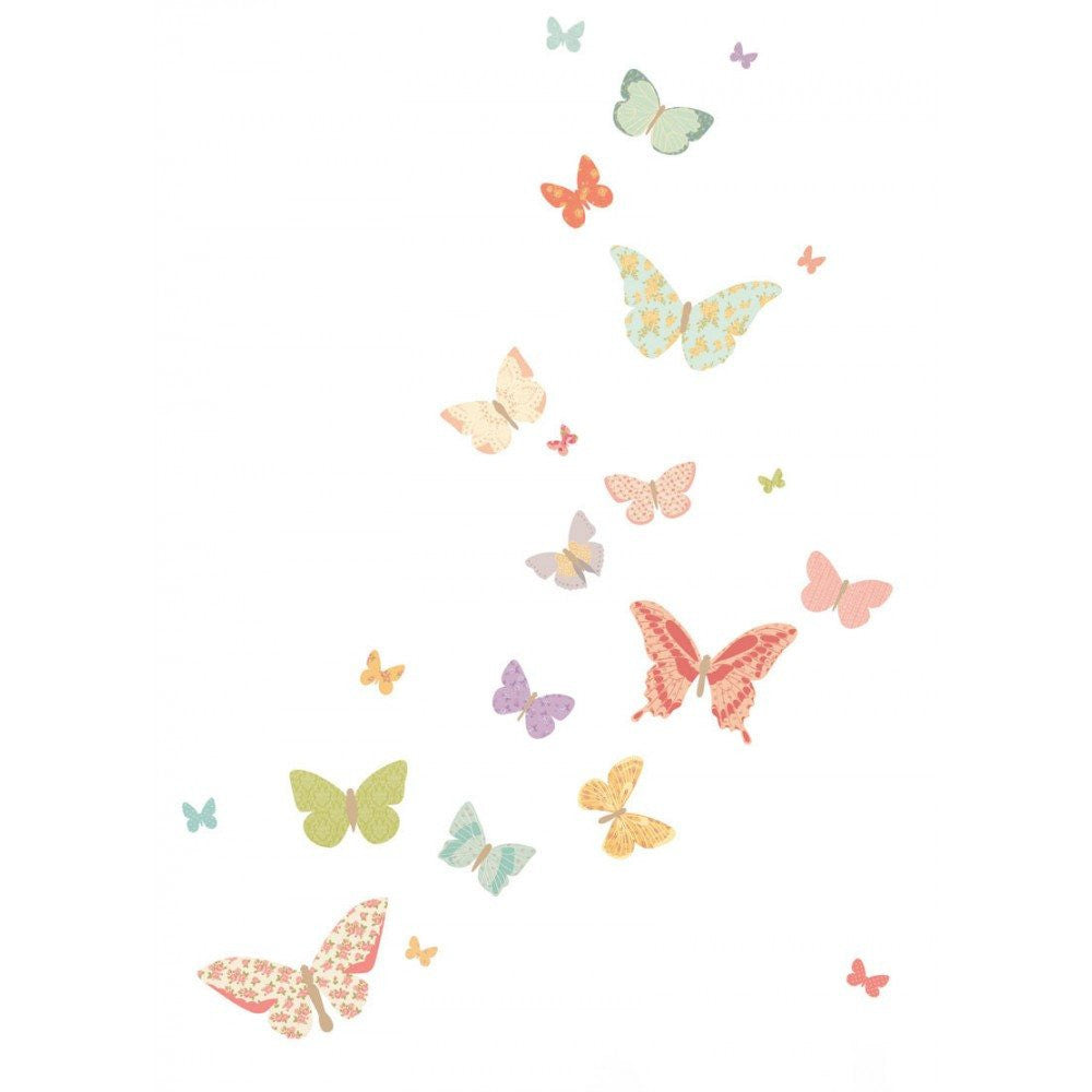 Love Mae Butterflies Fabric Wall Decal - fawn&forest