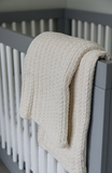 Evangeline Cable Knit Baby Blanket-Natural