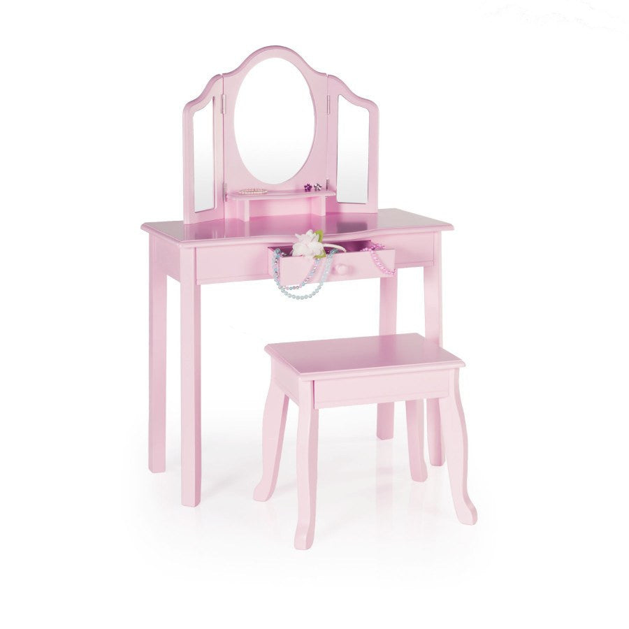 Guidecraft Child Vanity & Stool - fawn&forest