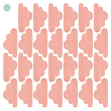 Clouds Fabric Wall Decal - Pink