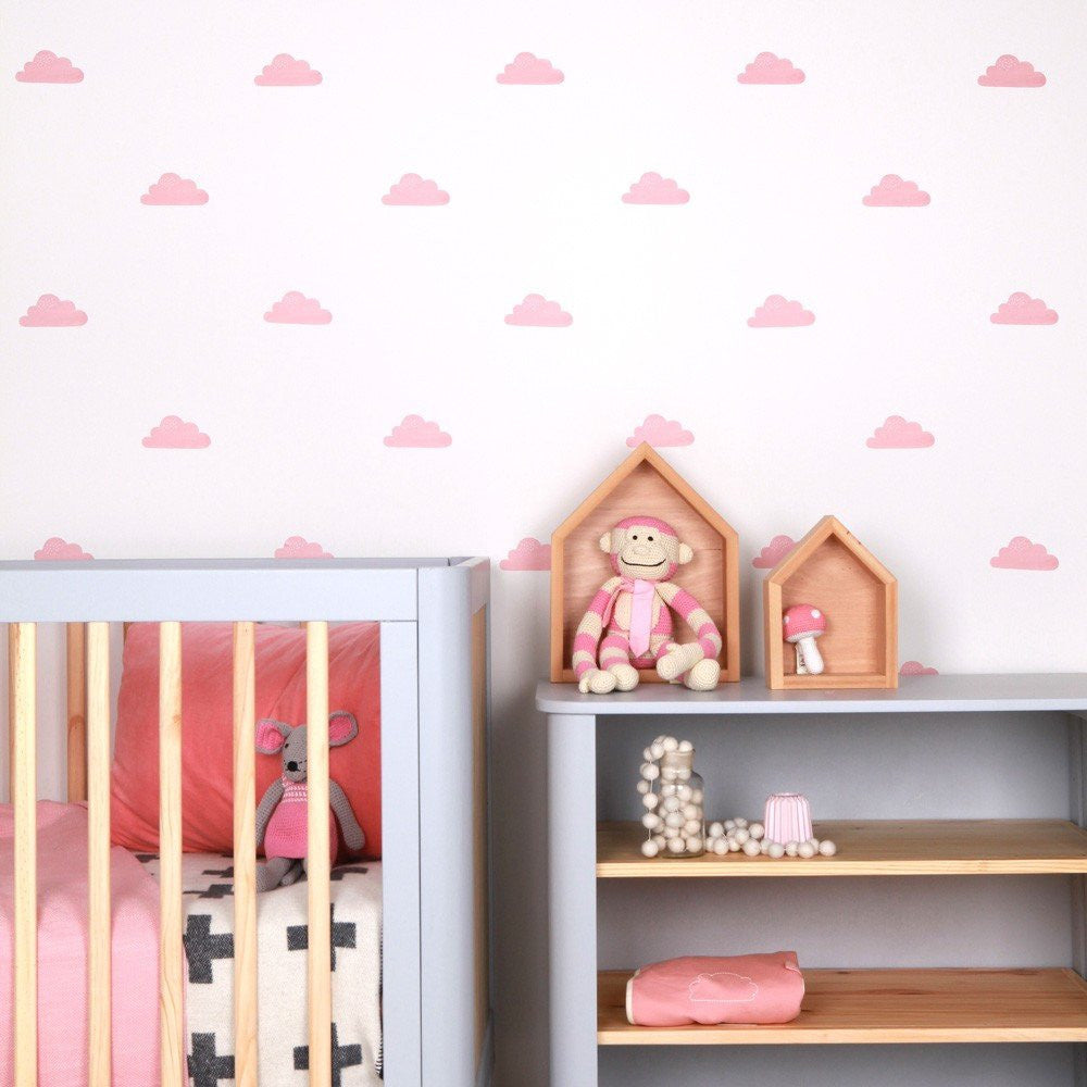 Love Mae Clouds Fabric Wall Decal - fawn&forest