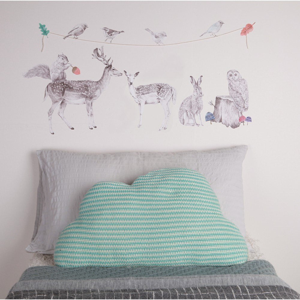 Forest Folk Fabric Wall Decal