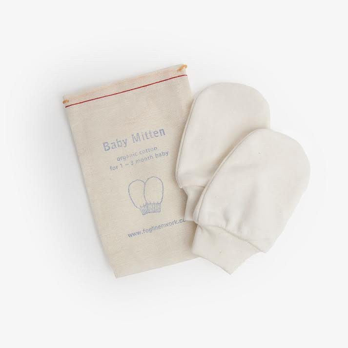 fawn&forest Fog Linen Organic Cotton Baby Mittens - fawn&forest