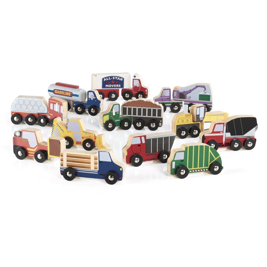 Guidecraft Wooden Truck Collection - fawn&forest