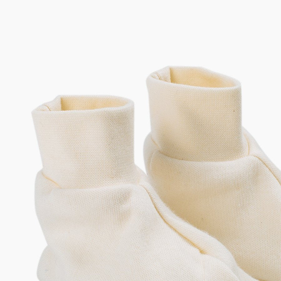 fawn&forest Fog Linen Organic Cotton Baby Booties - fawn&forest