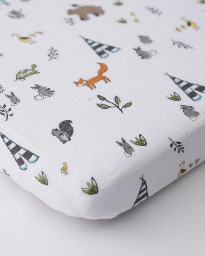 Little Unicorn Forest Friends Mini Crib Sheet