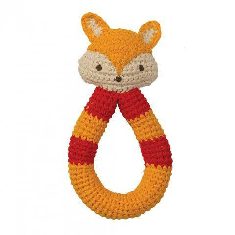 Babylonia Organic Fox Rattle - fawn&forest