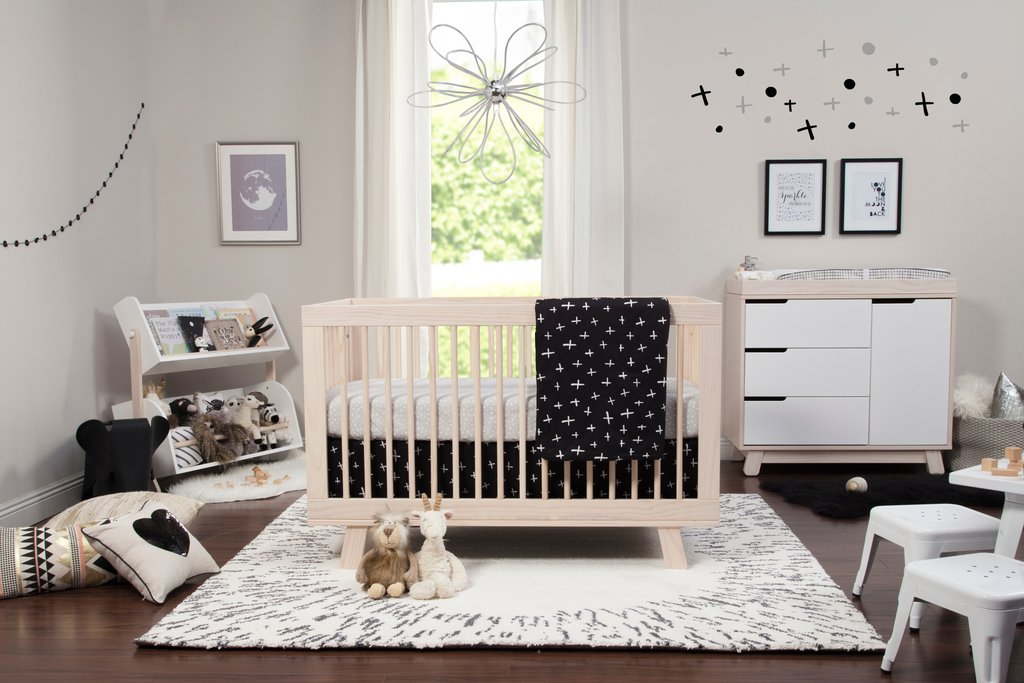 Babyletto Tuxedo Monochrome 5-piece Crib Bedding Set