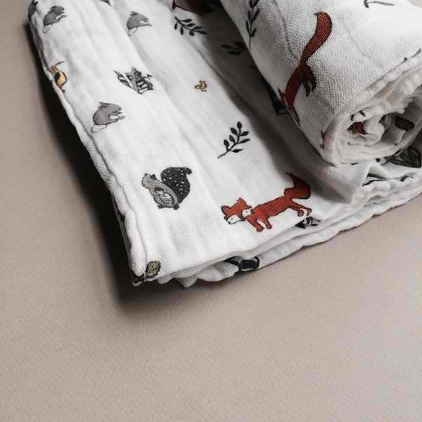 Little Unicorn Forest Friends Swaddle Blanket