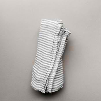 Little Unicorn Little Unicorn Grey Stripe Swaddle Blanket - fawn&forest