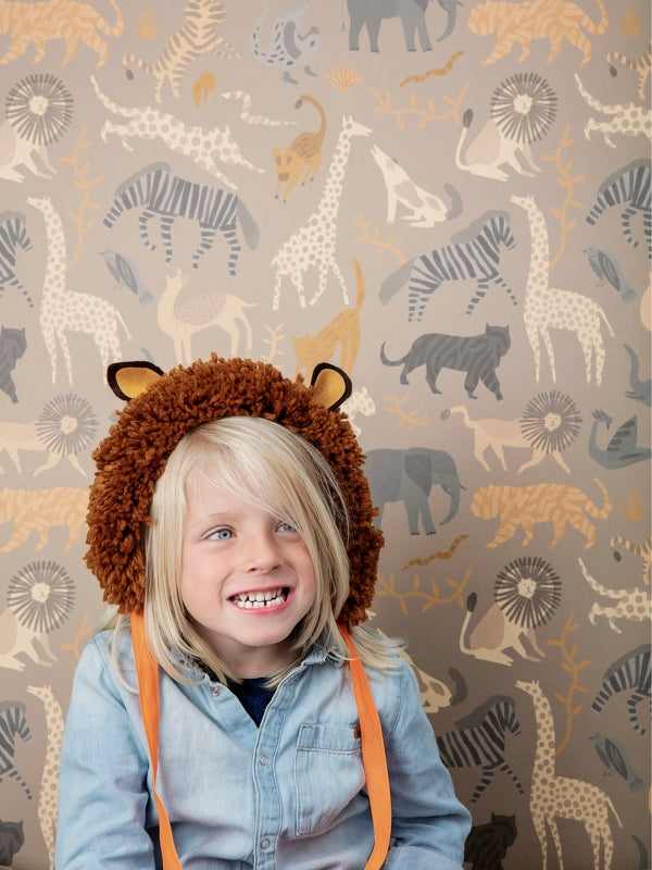Ferm Living Kids Safari Wallpaper