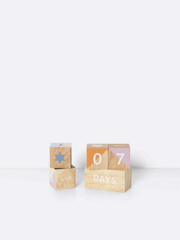 Ferm Living Kids Wooden Age Blocks