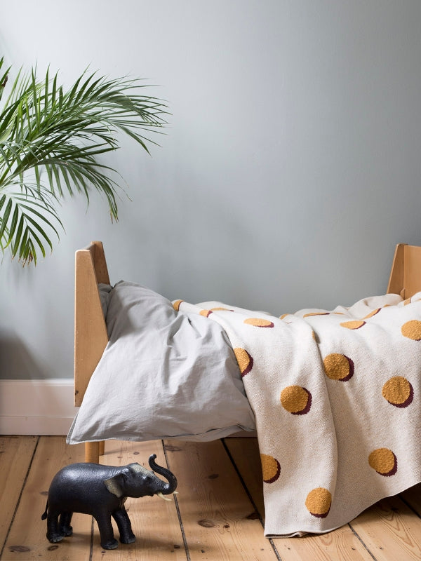Ferm Living Kids Double Dot Blanket - Cream