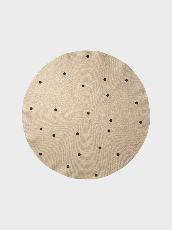 Ferm Living Kids Jute Rug - Black Dots