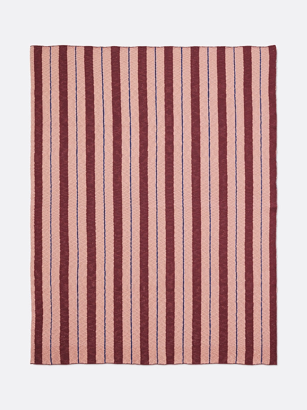 Ferm Living Kids Pinstripe Blanket - Rose