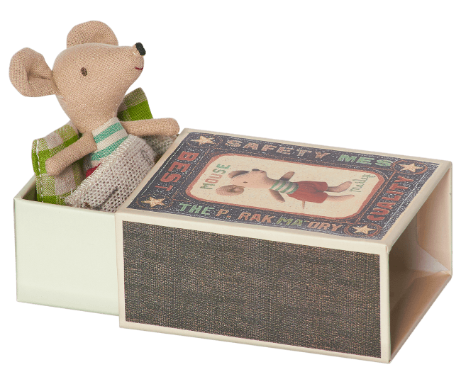Maileg Maileg Little Brother Mouse in Box - fawn&forest