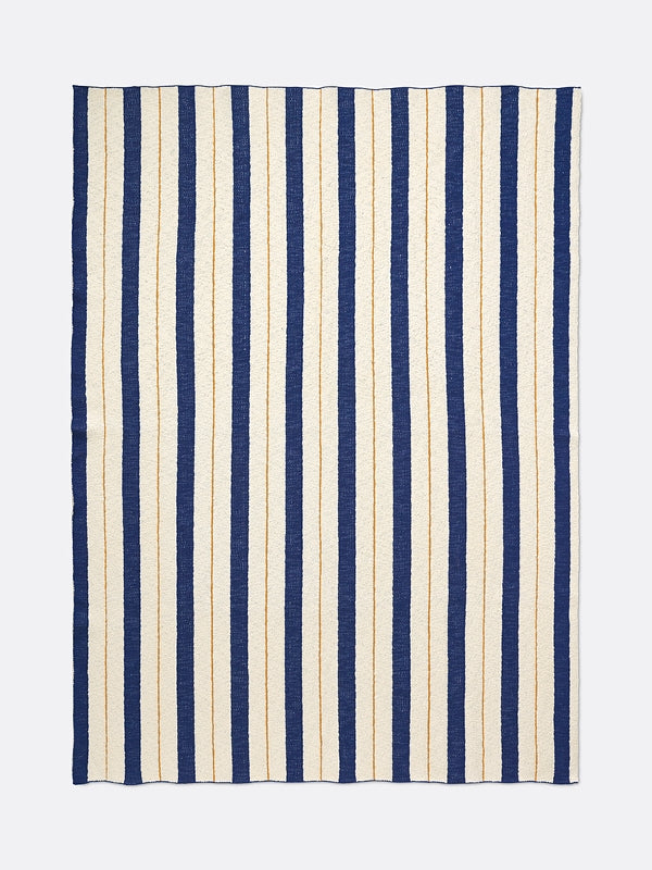 Ferm Living kids Pinstripe Blanket - Blue