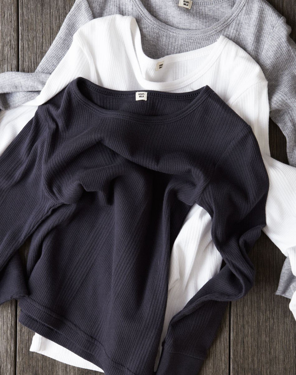 Goat-Milk Goat-Milk Ribbed Thermal Top - fawn&forest