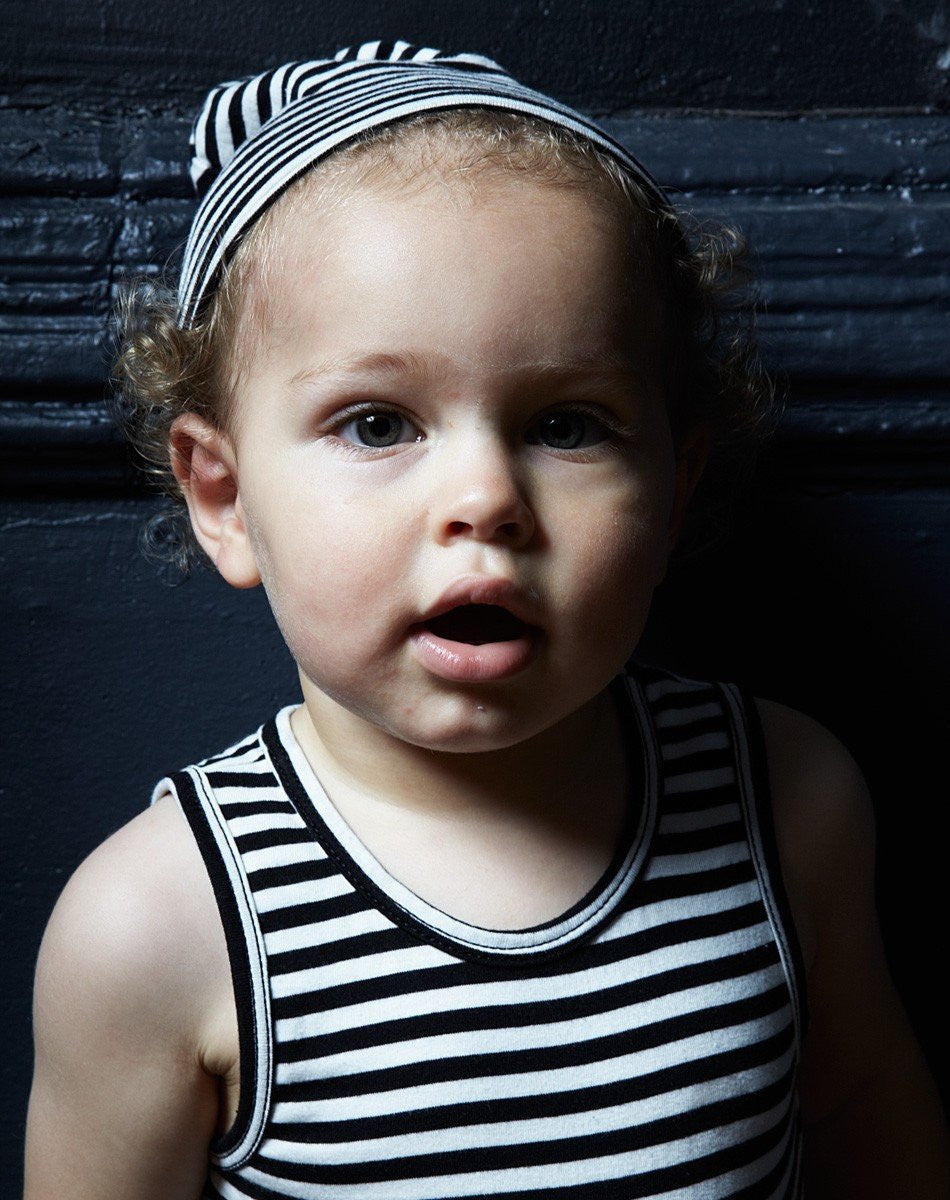 Goat-Milk Goat-Milk Sleeveless Striped Onepiece - fawn&forest