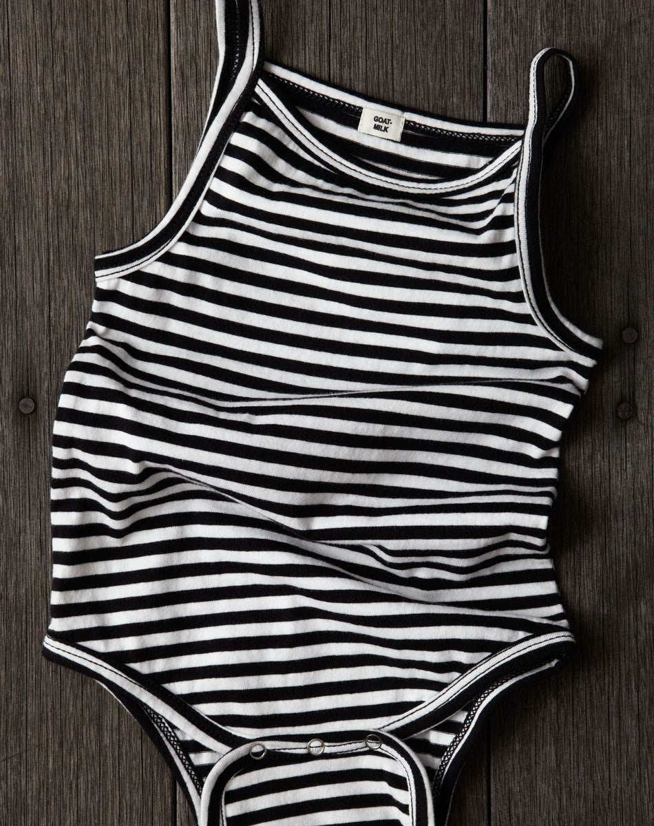 Goat-Milk Goat-Milk Striped Tank Onepiece - fawn&forest