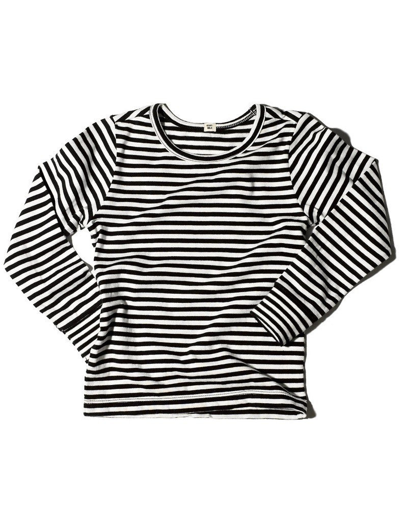 Goat-Milk Goat-Milk Striped Thermal Long Sleeve Top - fawn&forest