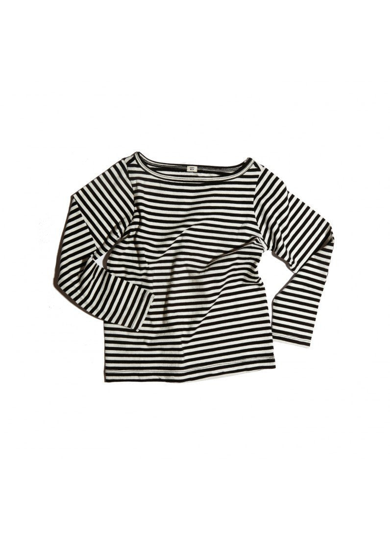 Goat-Milk Boatneck Striped Top