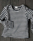 Goat-Milk Striped Baby Top