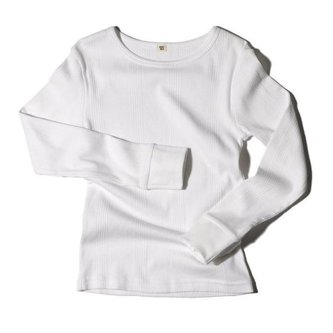 Goat-Milk Ribbed Thermal Top - White