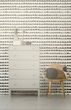 Ferm Living Half Moon Wallpaper - Black on White
