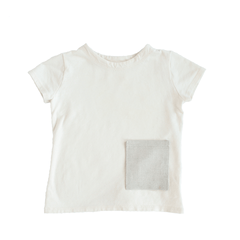 fawn&forest Tortoise & the Hare Hemp Tee - Natural Linen Pocket - fawn&forest