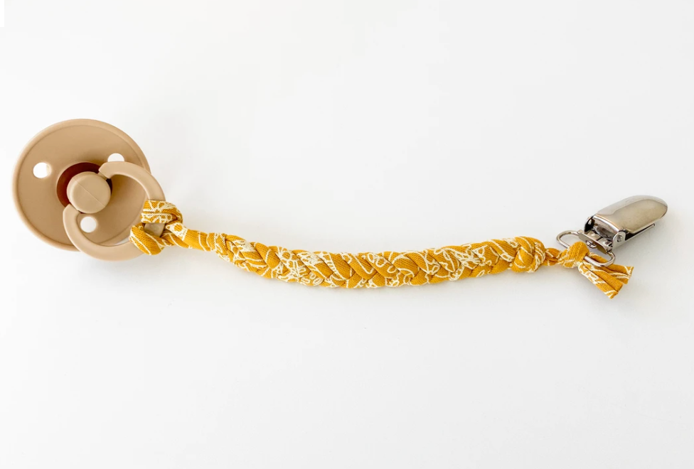 Madeline's Box Soft Braided Pacifier Clip