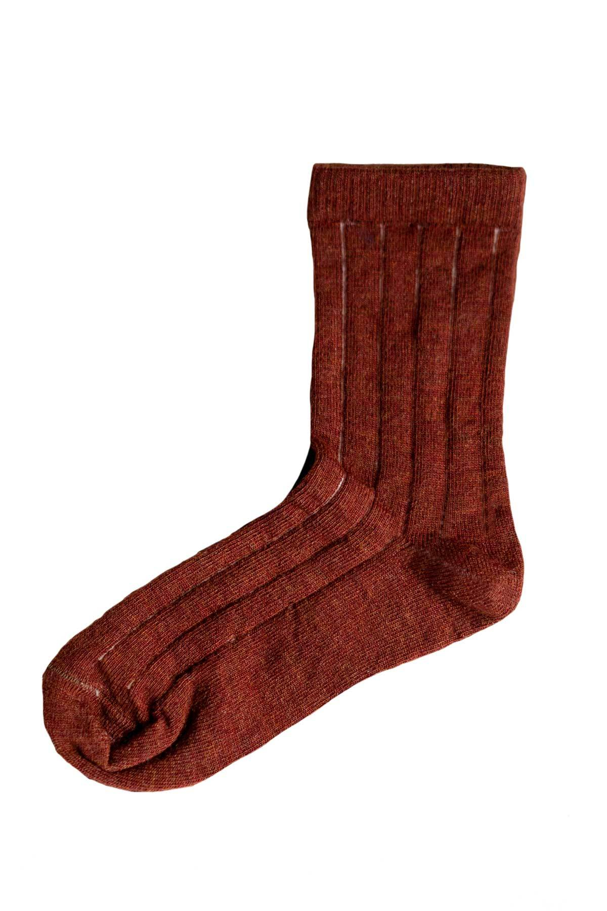 Merino Nature Socks- Rust
