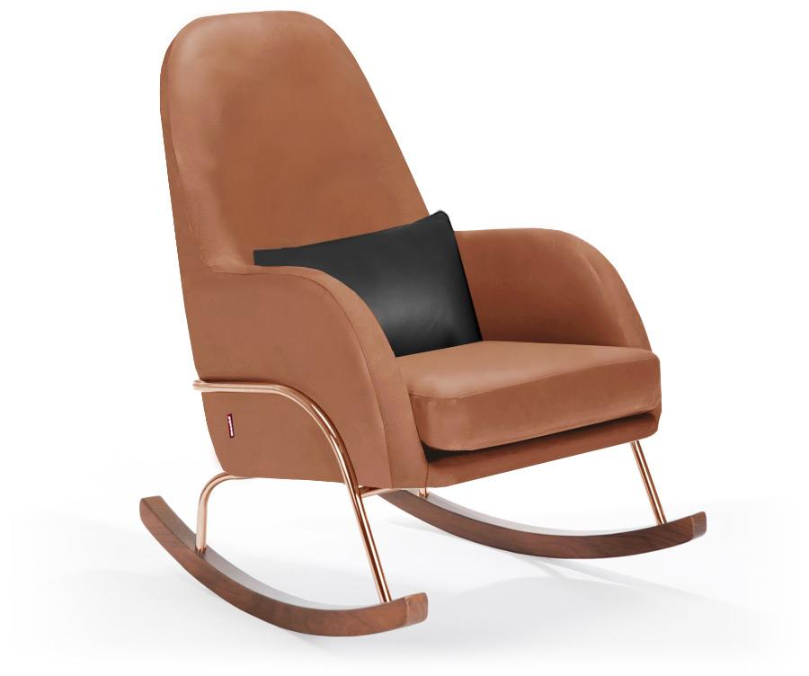 Monte Jackson Rocker - Tan Enviroleather