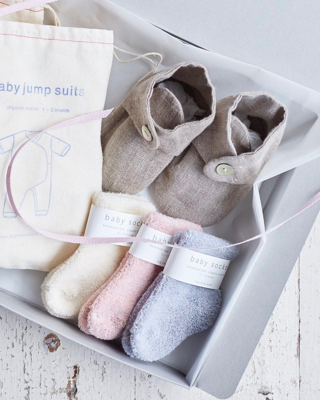 Fog Linen: Cotton Baby Socks