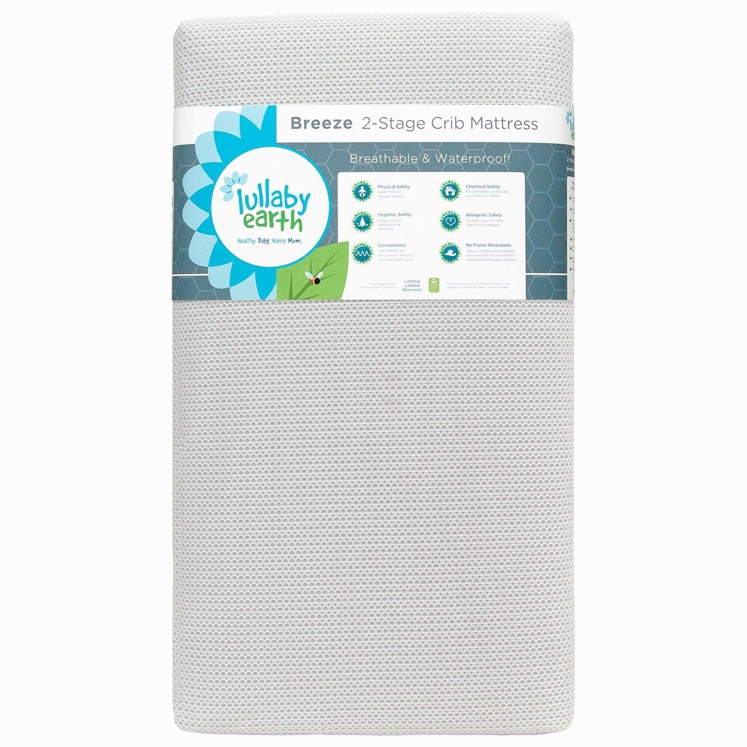 Lullaby Earth Breeze Breathable 2-Stage Crib Mattress