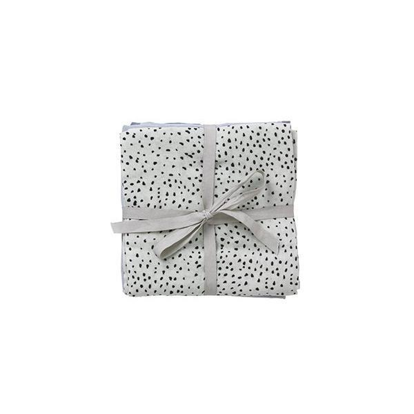 Ferm Living Kids Muslin Square - Mint Dot (set of 3)