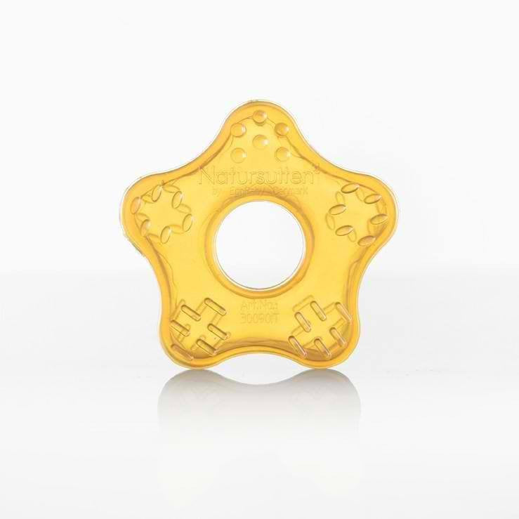 Natursutten Natursutten Natural Rubber Teether Toy Star - fawn&forest
